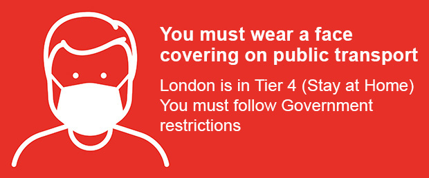 Wear a face covering graphic
